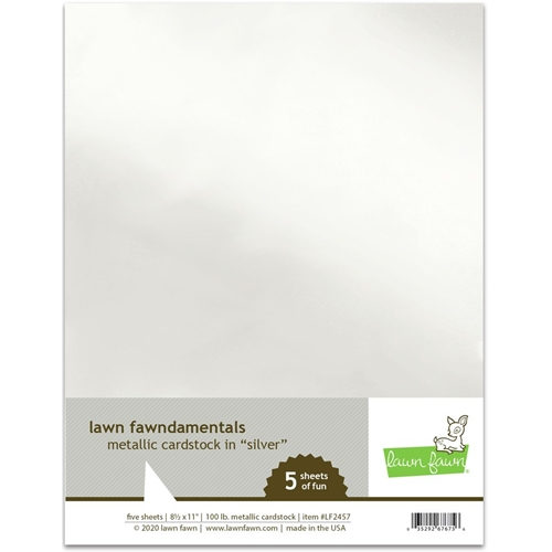 Lawn Fawn SILVER Metallic Cardstock lf2457 Preview Image