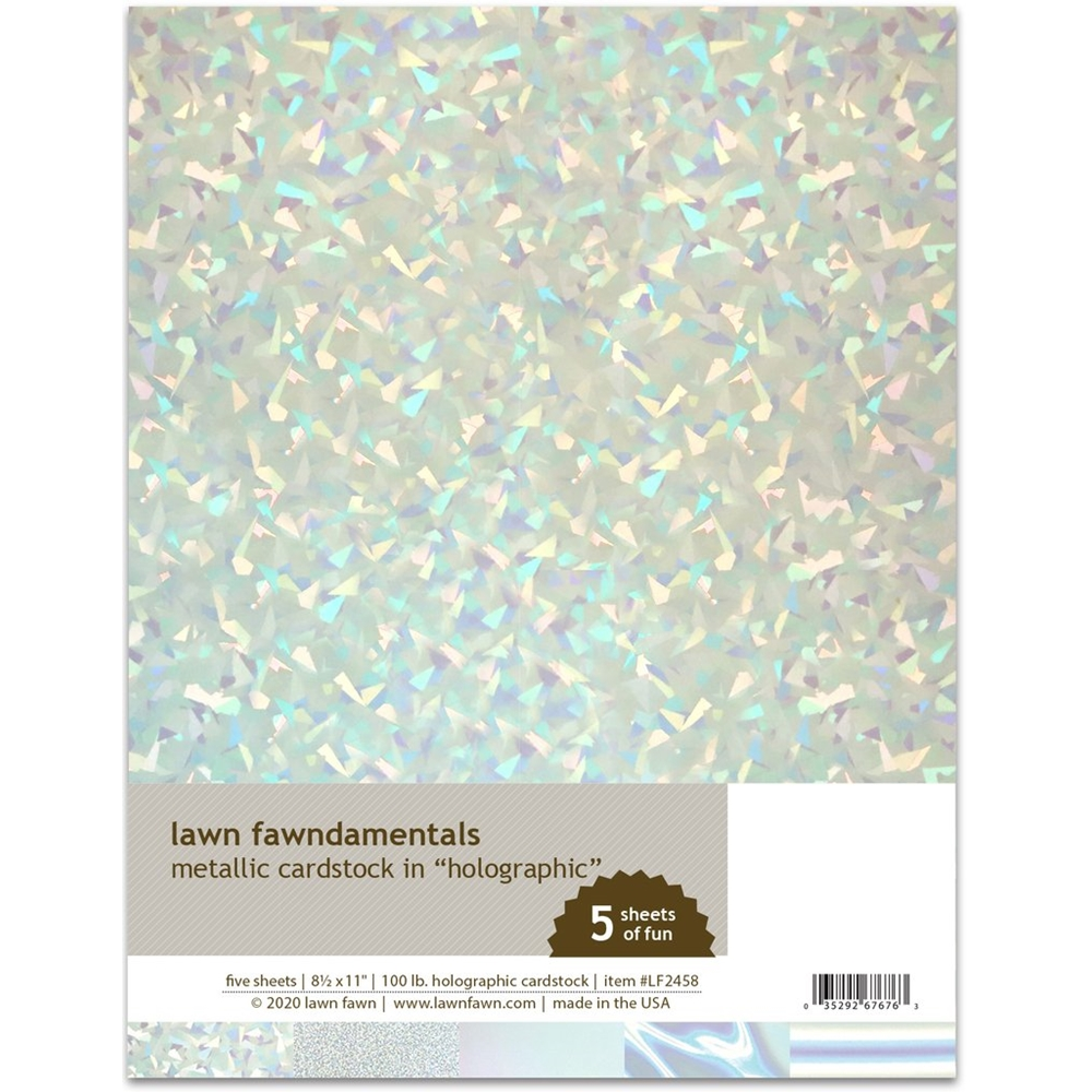 Lawn Fawn HOLOGRAPHIC Metallic Cardstock lf2458 zoom image