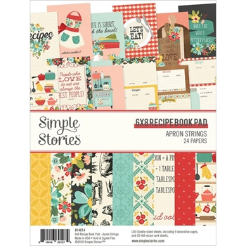 Simple Stories APRON STRINGS 6 x 8 Paper Pad 14014