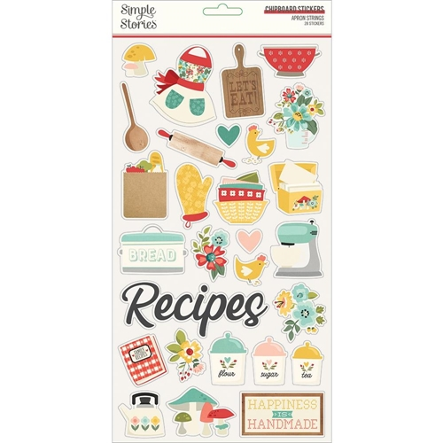 Simple Stories APRON STRINGS 6 x 12 Chipboard Stickers 14015 Preview Image