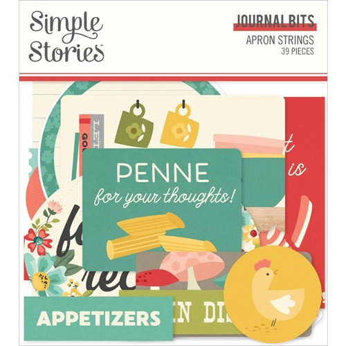 Simple Stories APRON STRINGS Journal Bits And Pieces 14017 Preview Image