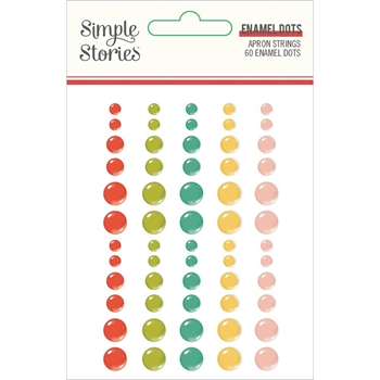 Simple Stories APRON STRINGS Enamel Dots 14019