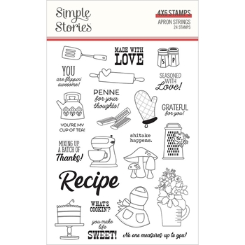 Simple Stories APRON STRINGS Clear Stamp Set 14021
