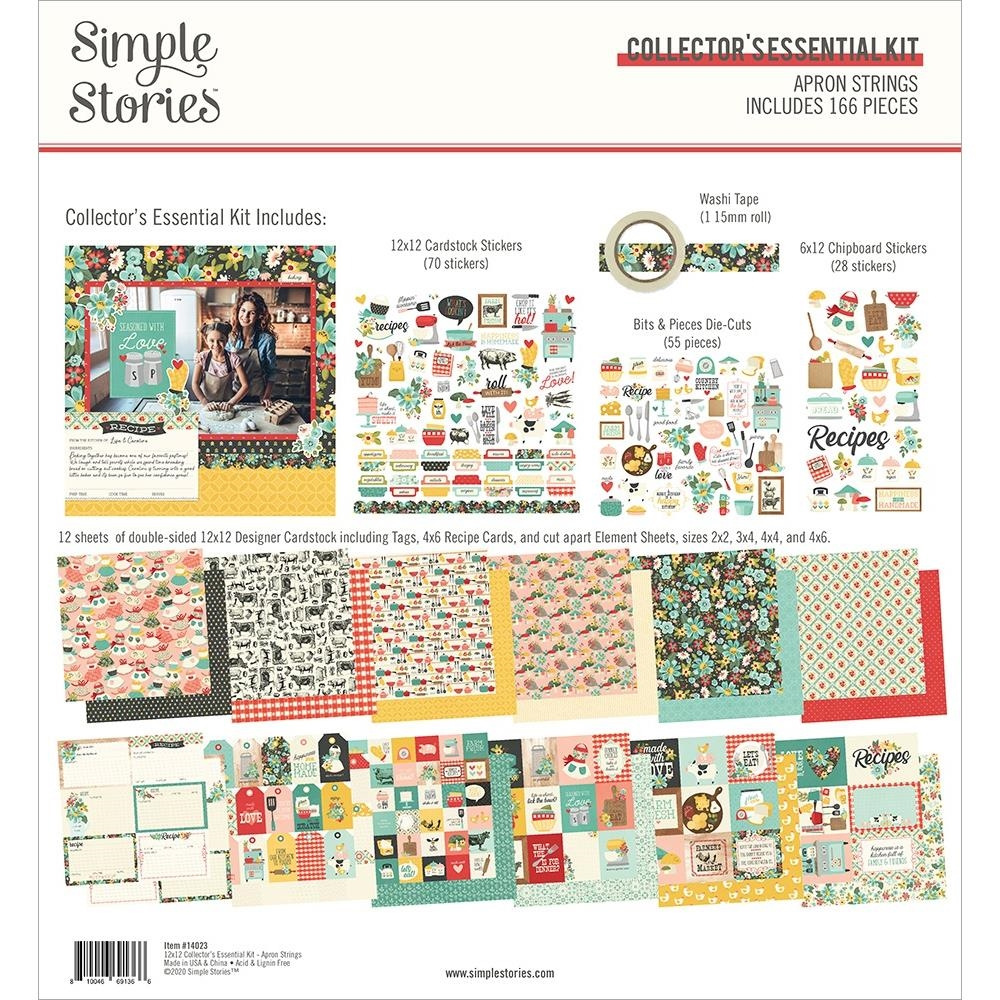 Simple Stories APRON STRINGS 12 x 12 Collector's Essential Kit 14023 zoom image