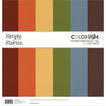 Simple Stories FALL 12 x 12 Color Vibe Paper Pack 13450