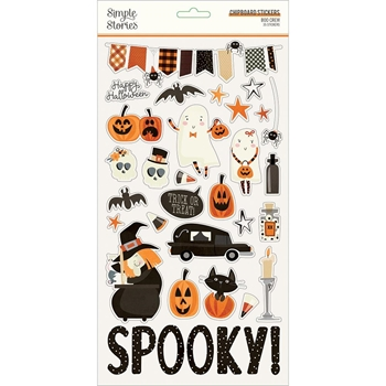 Simple Stories BOO CREW 6 x 12 Chipboard Stickers 13814