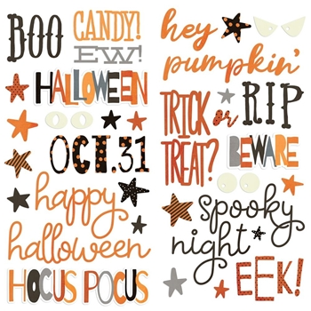 Simple Stories BOO CREW Foam Stickers 13817