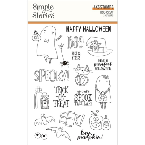 Simple Stories BOO CREW Clear Stamp Set 13820 Preview Image