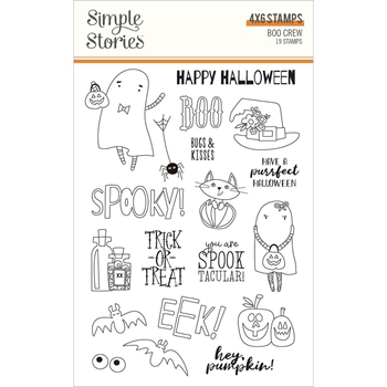 Simple Stories BOO CREW Clear Stamp Set 13820