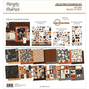 Simple Stories BOO CREW 12 x 12 Collector's Essential Kit 13822