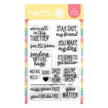 Waffle Flower SAFE AT HOME SENTIMENTS Clear Stamps 420359