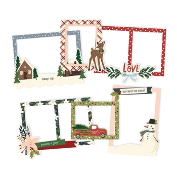 Simple Stories WINTER COTTAGE Layered Chipboard Frames 13919