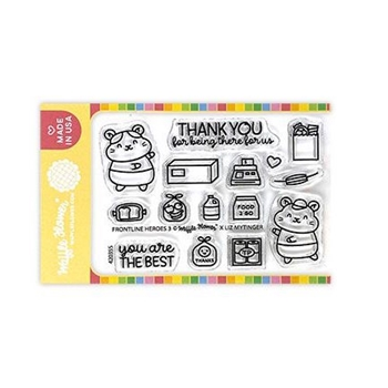 Waffle Flower FRONTLINE HEROES 3 Clear Stamps 420355