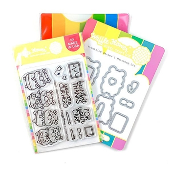 Waffle Flower FRONTLINE HEROES 1 Clear Stamps and Die Combo WFC351