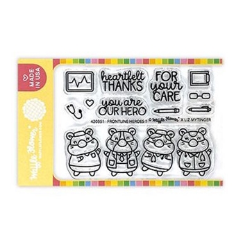 Waffle Flower FRONTLINE HEROES 1 Clear Stamps 420351
