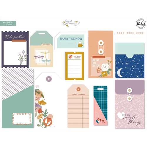 PinkFresh Studio DAYS OF SPLENDOR Journaling Bits pfrc600820 Preview Image