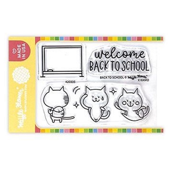 Waffle Flower BACK TO SCHOOL Clear Stamps 420335