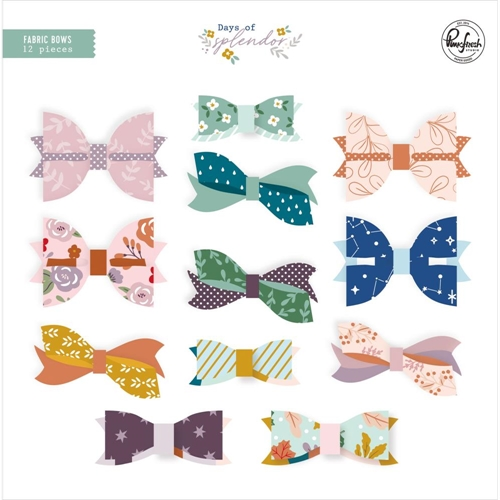 PinkFresh Studio DAYS OF SPLENDOR Fabric Bows pfrc601320 Preview Image