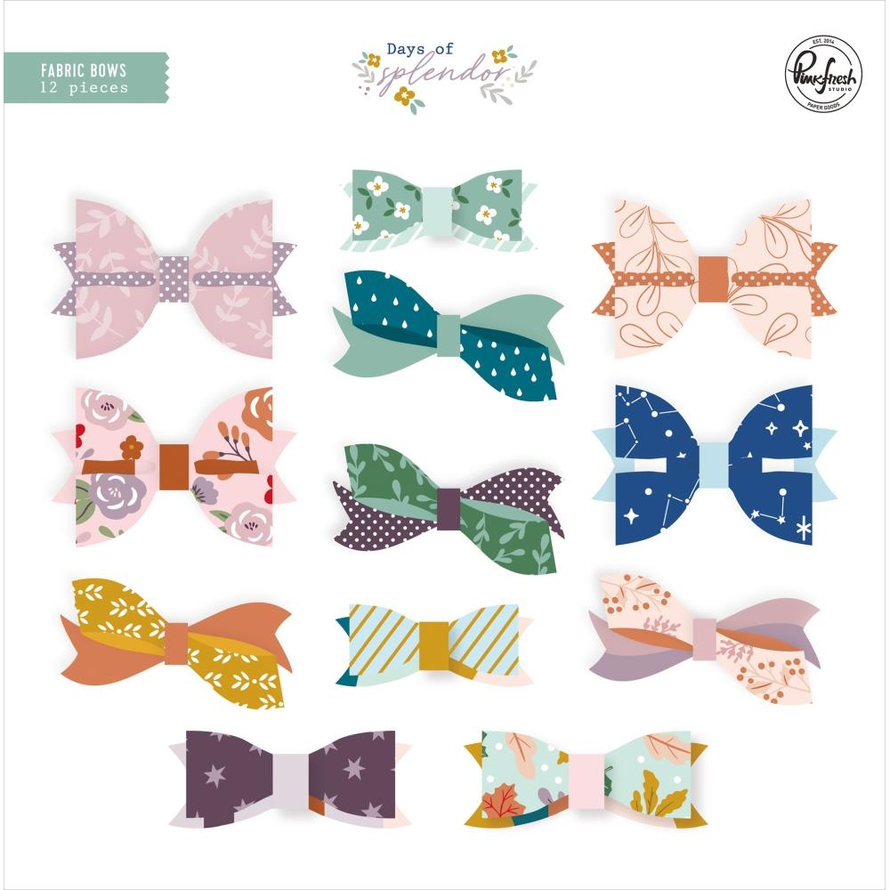PinkFresh Studio DAYS OF SPLENDOR Fabric Bows pfrc601320 zoom image
