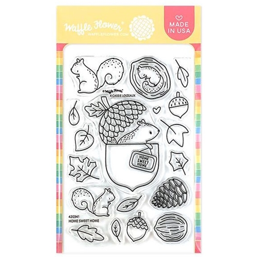 Waffle Flower HOME SWEET HOME Clear Stamps 420341* Preview Image