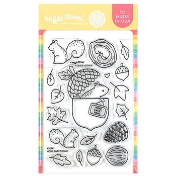 Waffle Flower HOME SWEET HOME Clear Stamps 420341*