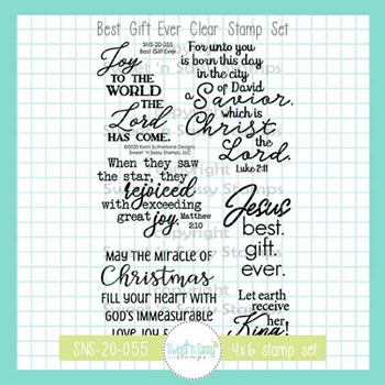 Sweet 'N Sassy BEST GIFT EVER Clear Stamp Set sns20055