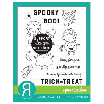 Reverse Confetti SPOOKTACULAR Clear Stamps