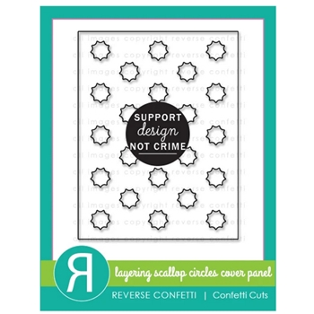 Reverse Confetti Cuts LAYERING SCALLOP CIRCLES Cover Panel Die