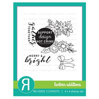 Reverse Confetti LANTERN ADDITIONS Clear Stamps
