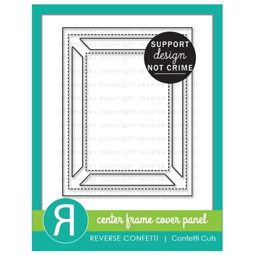 Reverse Confetti Cuts CENTER FRAME Cover Panel Die Preview Image