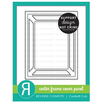 Reverse Confetti Cuts CENTER FRAME Cover Panel Die