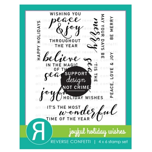Reverse Confetti JOYFUL HOLIDAY WISHES Clear Stamps Preview Image
