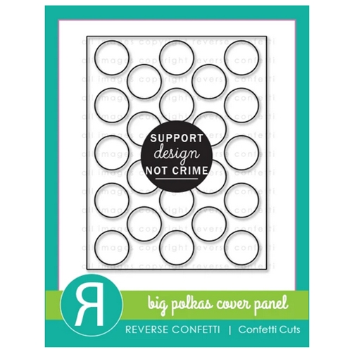 Reverse Confetti Cuts BIG POLKAS Cover Panel Die Preview Image