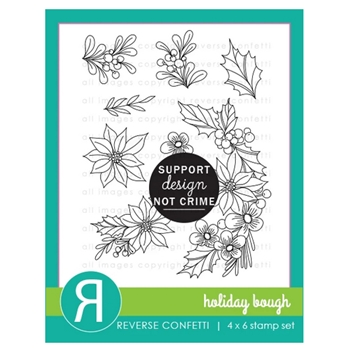 Reverse Confetti HOLIDAY BOUGH Clear Stamps