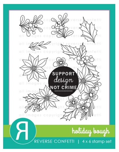 Reverse Confetti HOLIDAY BOUGH Clear Stamps zoom image