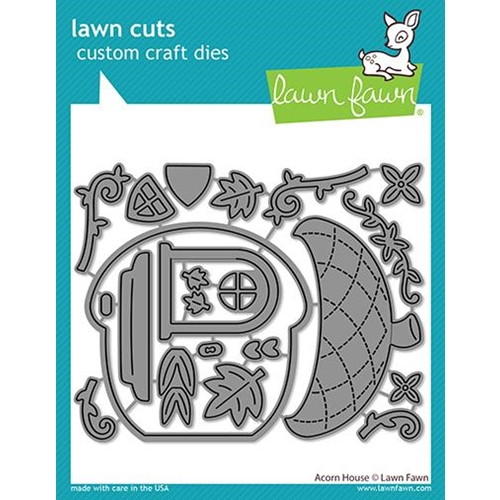 Lawn Fawn ACORN HOUSE Die Cuts lf2440 Preview Image