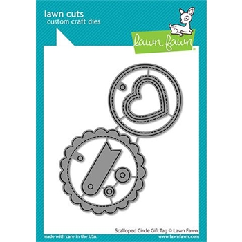 Lawn Fawn SCALLOPED CIRCLE GIFT TAG Die Cuts lf2453 **
