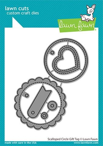 Lawn Fawn SCALLOPED CIRCLE GIFT TAG Die Cuts lf2453 zoom image
