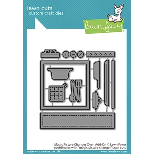 Lawn Fawn MAGIC PICTURE CHANGER OVEN ADD-ON Die Cuts lf2436 Preview Image