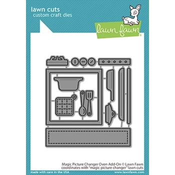 Lawn Fawn MAGIC PICTURE CHANGER OVEN ADD-ON Die Cuts lf2436 **