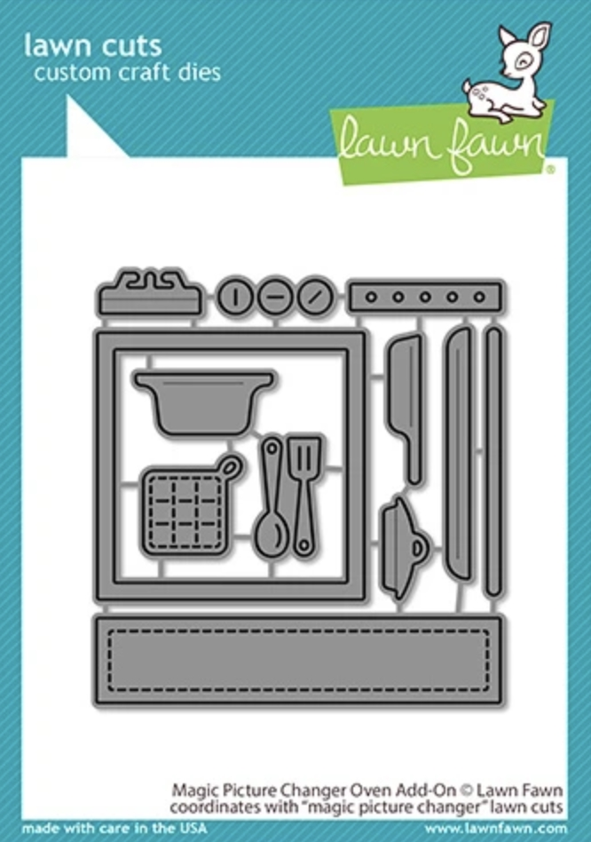 Lawn Fawn MAGIC PICTURE CHANGER OVEN ADD-ON Die Cuts lf2436 zoom image