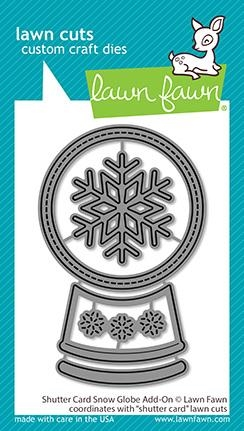 Lawn Fawn SHUTTER CARD SNOW GLOBE ADD-ON Die Cuts lf2434 Preview Image
