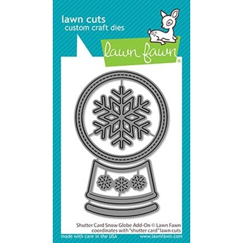 Lawn Fawn SHUTTER CARD SNOW GLOBE ADD-ON Die Cuts lf2434