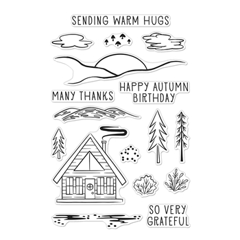 Hero Arts Clear Stamps HAPPY AUTUMN FOREST CM480