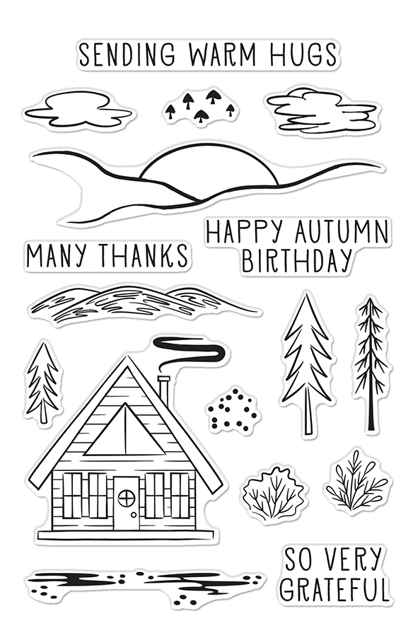 Hero Arts Clear Stamps HAPPY AUTUMN FOREST CM480 zoom image