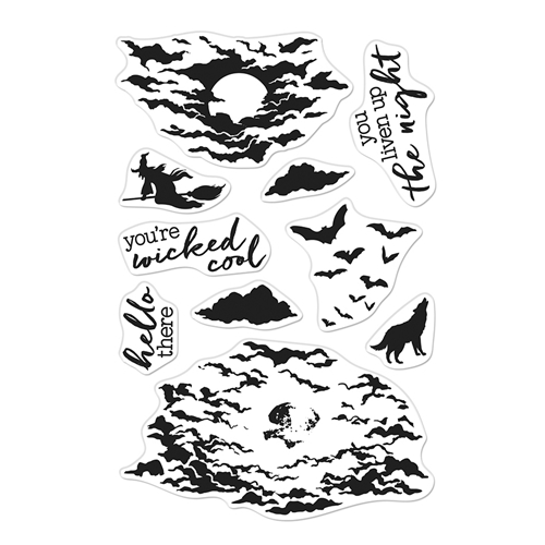 Hero Arts Clear Stamps COLOR LAYERING MOONLIT NIGHT CM479 Preview Image