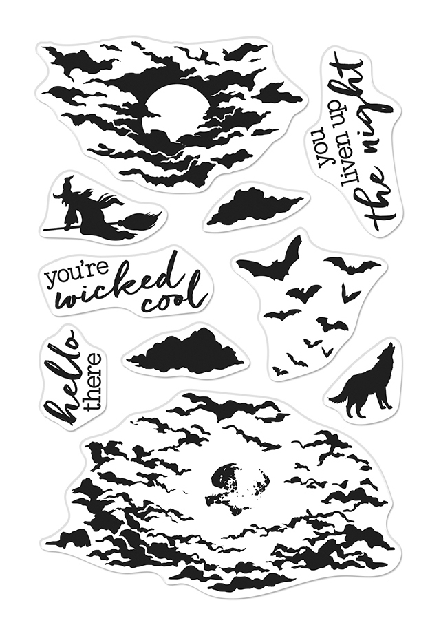 Hero Arts Clear Stamps COLOR LAYERING MOONLIT NIGHT CM479 zoom image