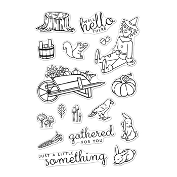 Hero Arts Clear Stamps WHEELBARROW FRIENDS CM477