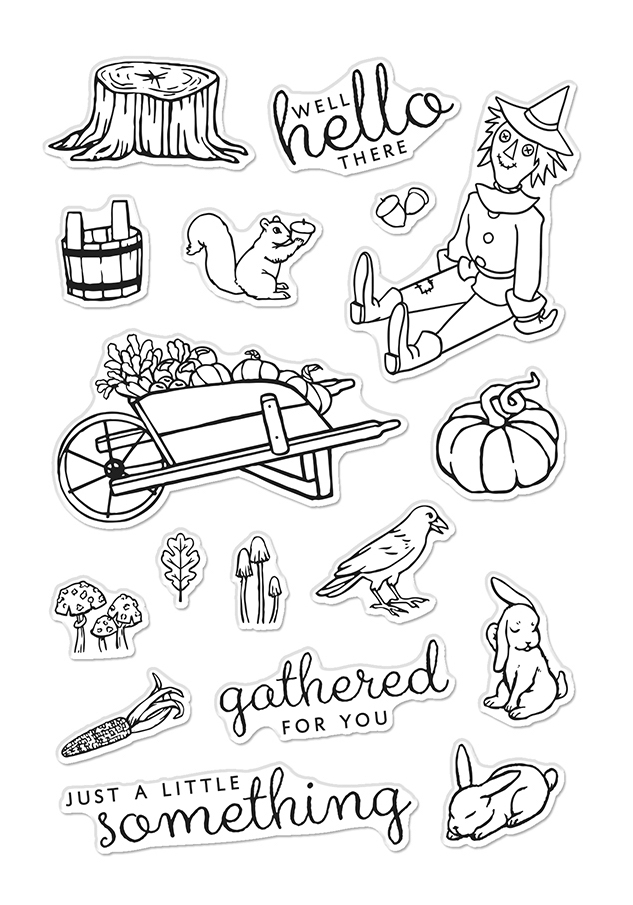 Hero Arts Clear Stamps WHEELBARROW FRIENDS CM477  zoom image