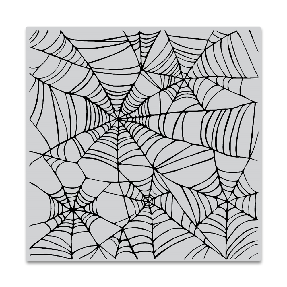 Hero Arts Cling Stamp SPIDER WEB BOLD PRINTS CG822 zoom image